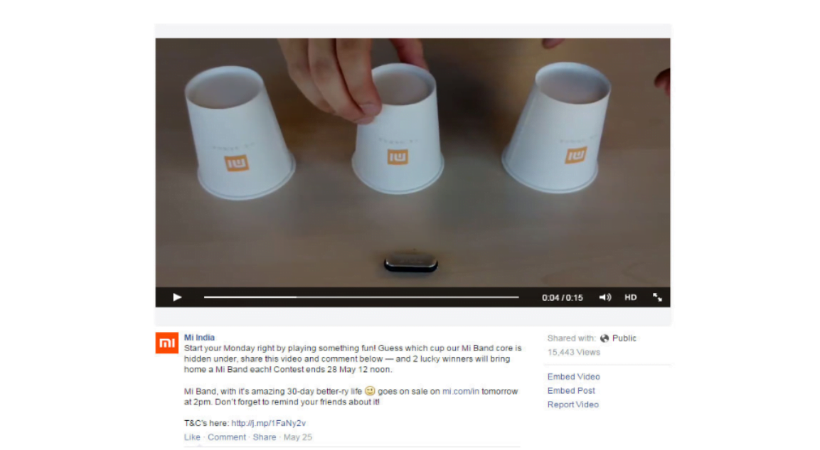Cup challenge by Redmi