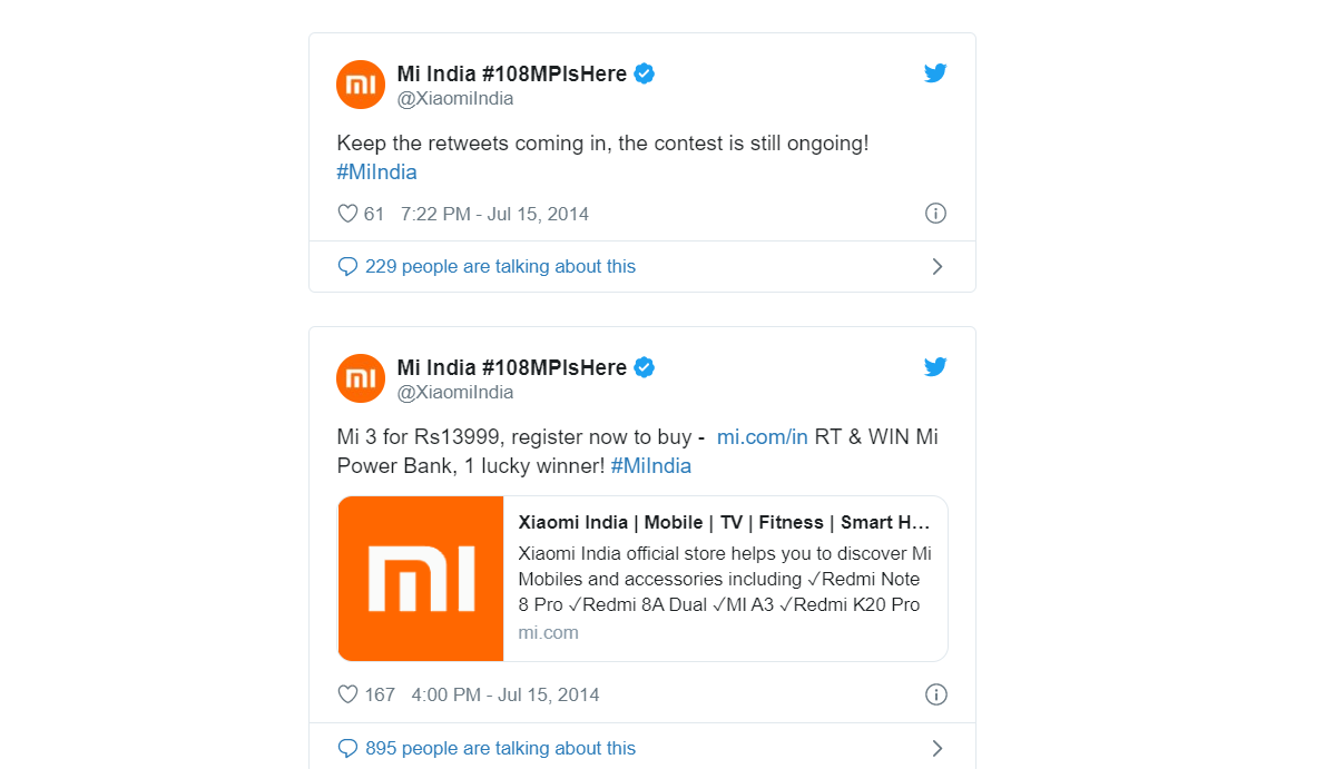 Twitter Campaign by Redmi