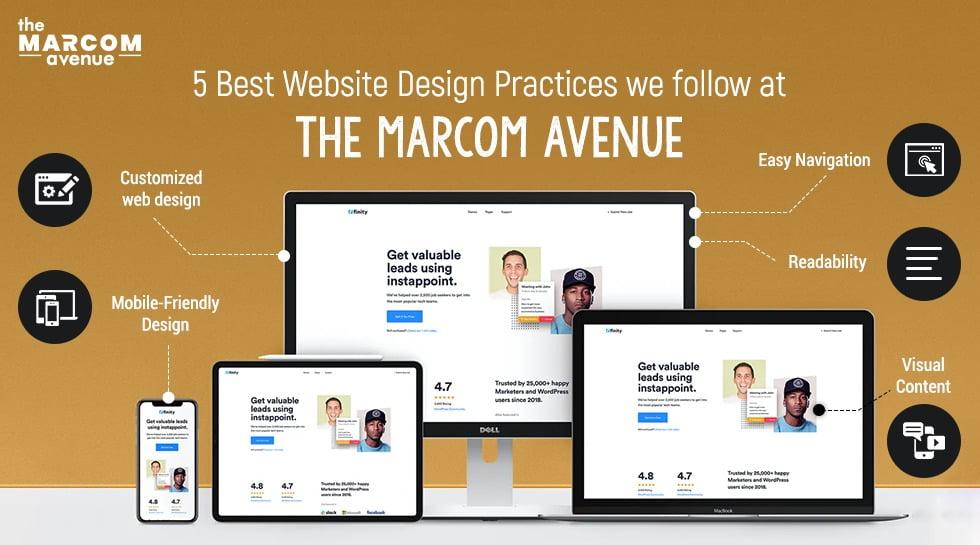 5 Best Website Design Practices We Follow At The Marcom Avenue