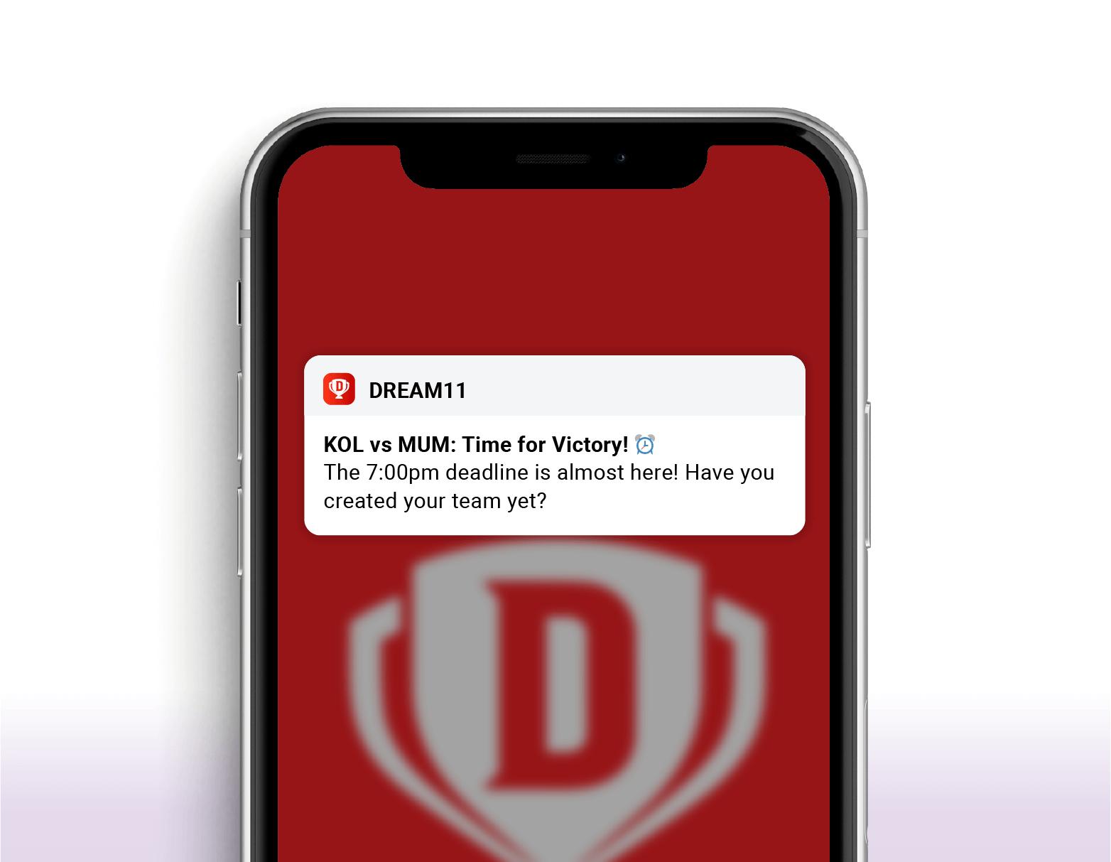 dream 11- reminder campaign